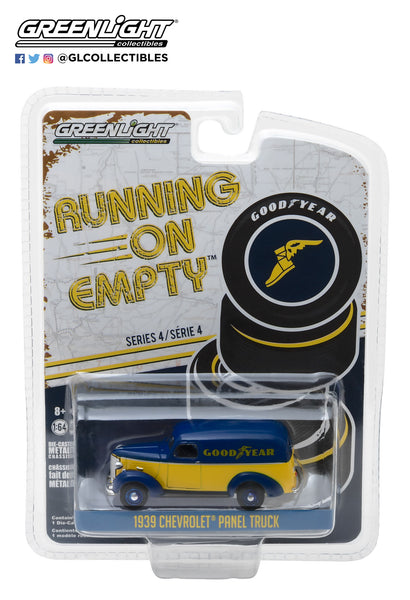 1:64 Running on Empty Series 4 - 1939 Chevrolet Panel Truck - Goodyear Tires