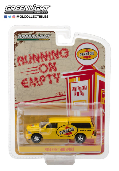 "1:64 Running on Empty Series 5 - 2014 Ram 1500 with Camper Shell Pennzoil ""Not just oil, Pennzoil"""