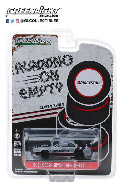 1:64 Running on Empty Series 8 - 2001 Nissan Skyline GT-R (BNR34) - Bridgestone Racing