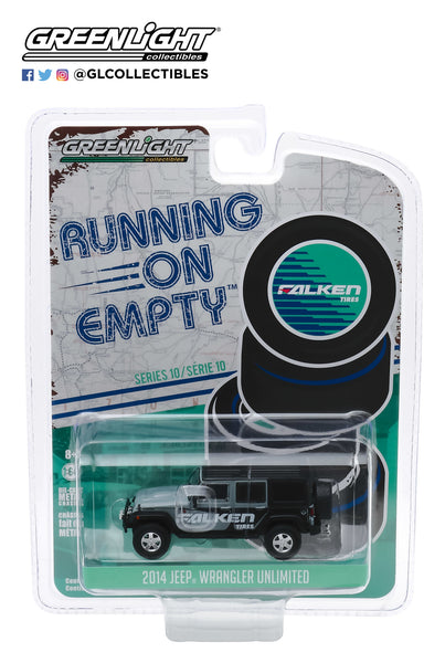 1:64 Running on Empty Series 10 - 2014 Jeep Wrangler Unlimited - Falken Tires - Grey