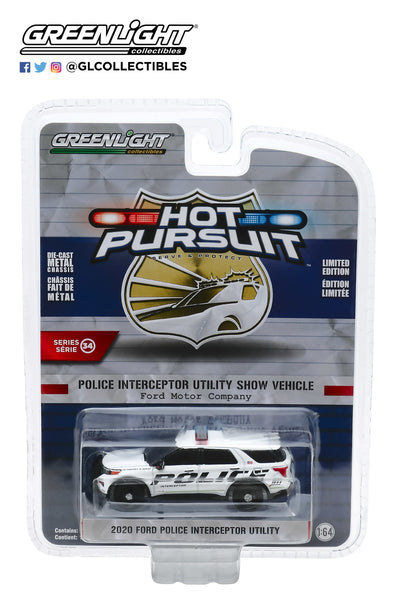 1:64 Hot Pursuit Series 34 - 2020 Ford Police Interceptor Utility Show Vehicle