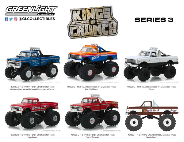 Greenlight 1:64 Kings of Crunch Series 3 : Six Truck Set : IN STOCK