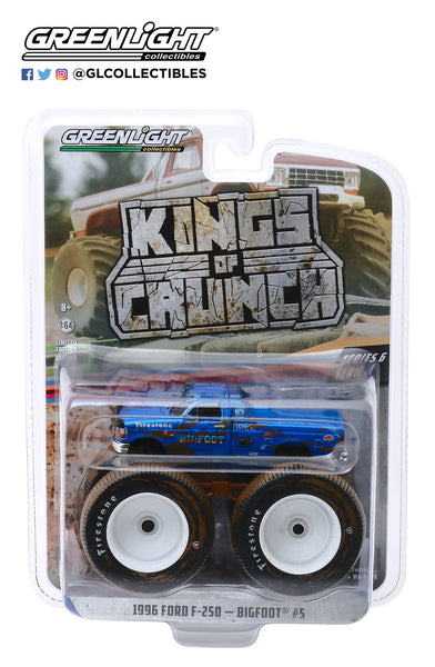 1:64 Kings of Crunch Series 6 - Bigfoot #5 - 1996 Ford F-250 Monster Truck (Dirty Version)