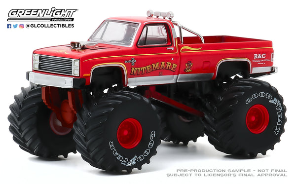 Greenlight 1:64 Kings of Crunch Series 7 - Nitemare II - 1986 Chevrolet Silverado : Due in Aug