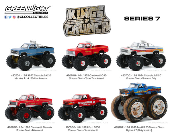 Greenlight 1:64 Kings of Crunch Series 7 : Set of six : Scheduled for Aug arrival