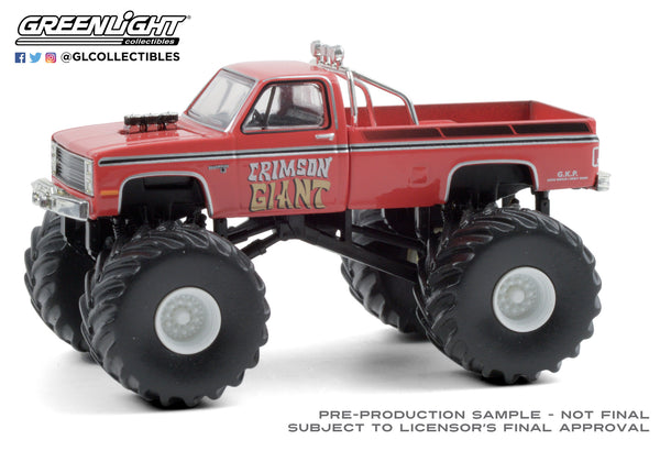 1:64 Kings of Crunch Series 8 - Crimson Giant - 1987 Chevrolet Silverado Monster Truck