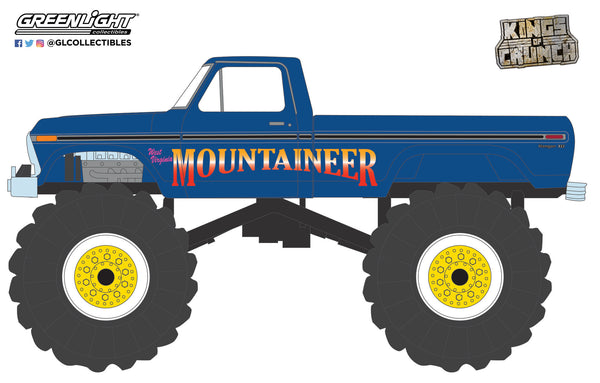 Greenlight 1:64 Kings of Crunch Series 9 - West Virginia Mountaineer - 1979 Ford F-250 Monster Truck