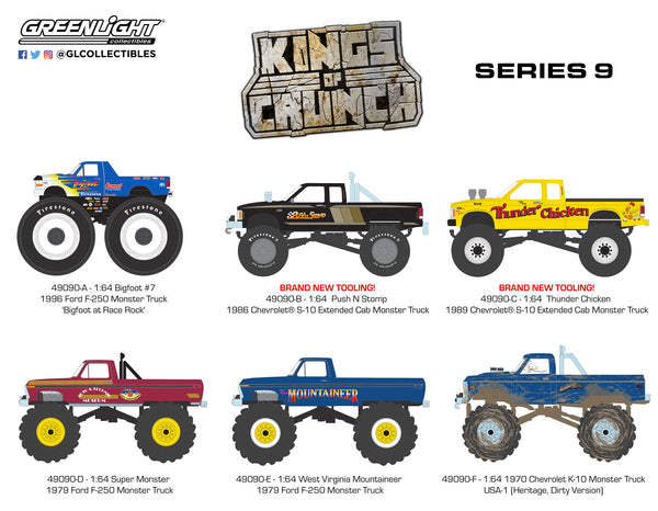 Greenlight 1:64 Kings of Crunch Series 9 : Set of six : PRE ORDER FOR MAR/APR DELIVERY