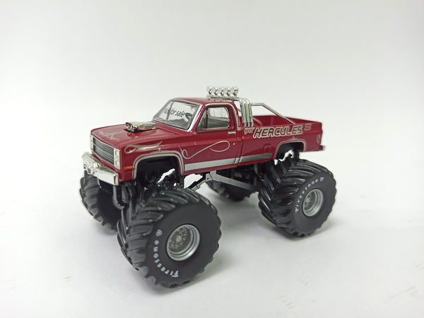 2020 Grandpa's Die Cast Exclusive : 1:64 Hercules 1987 Chevy K20 : GREEN MACHINE : PRE ORDER for Jan 2020