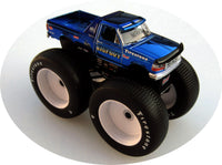 Grandpa's Die Cast Exclusive : 1:64 Blue Chrome Bigfoot 5 by Greenlight