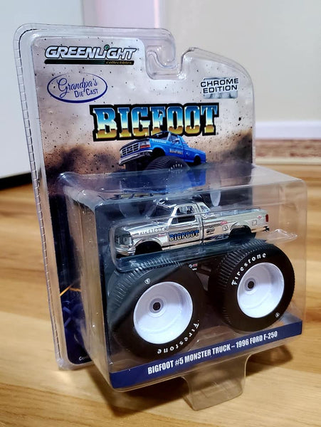 Grandpa's Die Cast Exclusive Blue Chrome Bigfoot 5 : Silver Chrome Chase Limited to 252