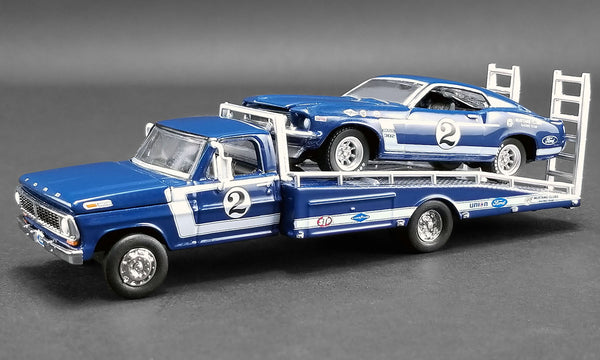 1:64 Dan Gurney - Ford F-350 Ramp Truck with #2 1969 Trans Am Mustang - Acme Exclusive