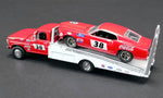 ALLAN MOFFAT RACING - FORD F-350 RAMP TRUCK WITH #38 1969 TRANS AM MUSTANG - ACME EXCLUSIVE