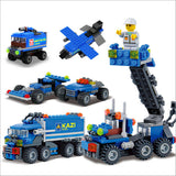 163pcs Transport Dumper Truck Blocks (Can Build 8 Shapes)