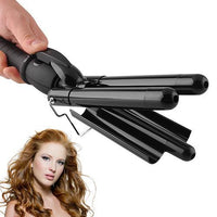 3 Barrel Hair Curler Roller Pro LCD Ceramic Styler Curling Iron