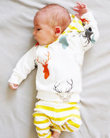 2pcs Baby Cotton Hooded Deer Clothing Set