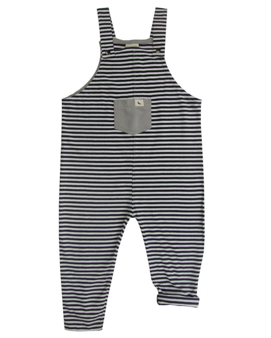 Monochrome Stripe Dungaree