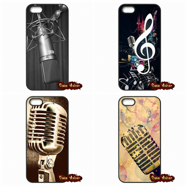 Old School Style Microphone Music Case Cover For iPhone SE 4 4S 5S 5 5C 6 6S Plus Samsung Galaxy S2 S3 S4 S5 MINI S6 S7 Edge - CueLoops