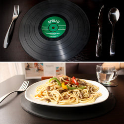 2pcs Vinyl Record Silicone Big Size Dining Tables Mats - CueLoops