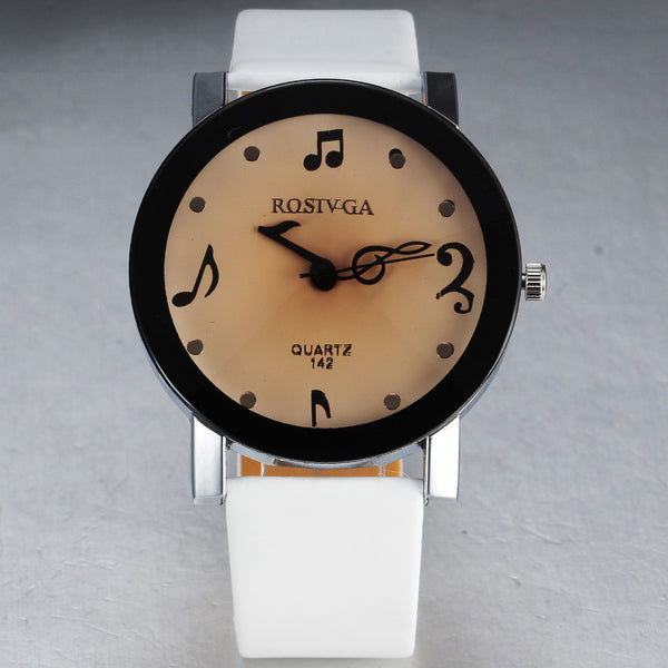 Music Note Dial Women's Wrist Watch - CueLoops