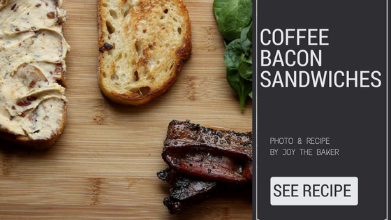 coffee bacon sandwiches