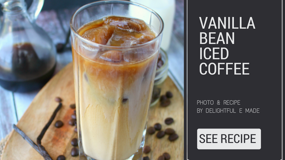 vanilla bean iced coffee