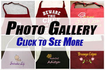 Personalised apron Photo Gallery