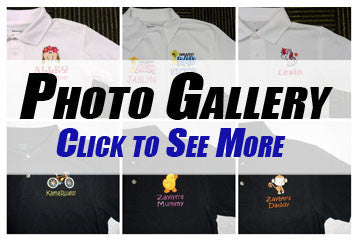 Personalised T-Shirt Embroidery Photo Gallery
