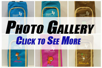 Personalised Shoe Bag Photo Gallery