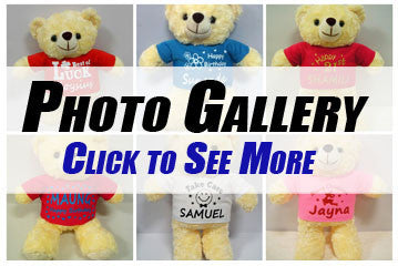 Personalised Teddy Bear Photo Gallery