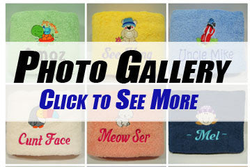 Personalised Towel Embroidery Photo Gallery