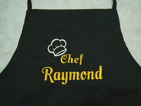 Apron in black