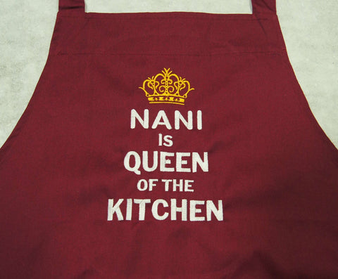 Maroon Red Apron