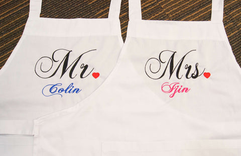 Couple Apron