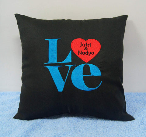 Personalised couple wedding cushion
