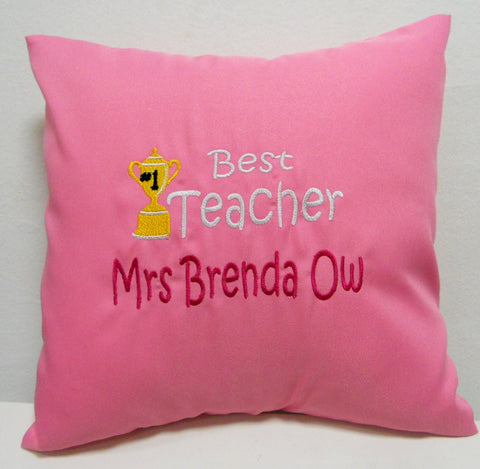 Personalised Teacher's Day Cushion