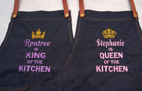 Embroidery Denim Apron
