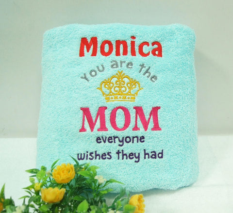 Sky Blue towel with Mother's day design