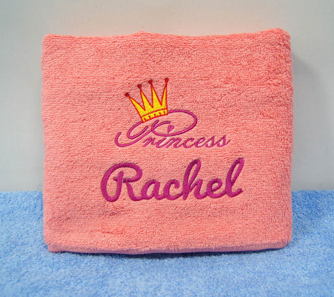 baby towel with embroidery