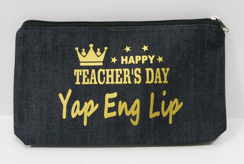 Customised Teachers' Day Denim Pouch
