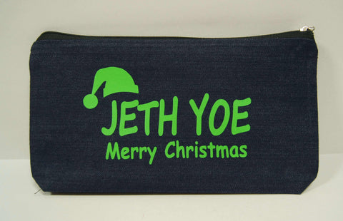 Christmas hat on pouch