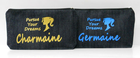 Pencil case with personalized print
