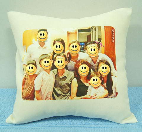 Cushion with photo printing