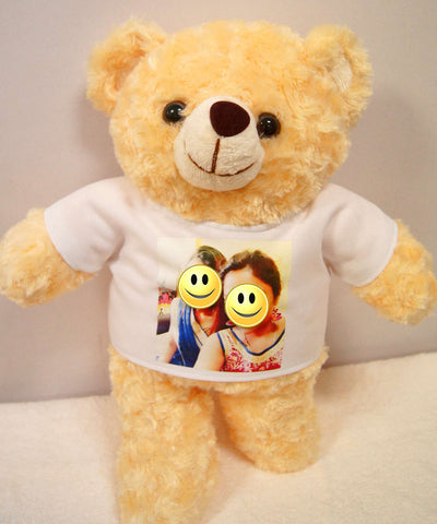 Photo on teddy bear shirt