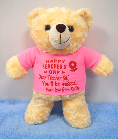 Personalised  Teacher Day Teddy Bear
