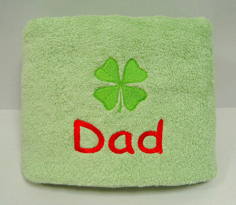Personalised embroidery towel for dad