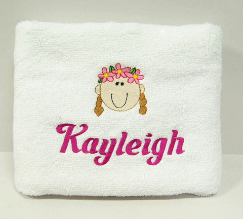 Personalised towel with embroidery - baby shower gifts