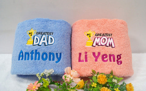 Mom an Dad Towel