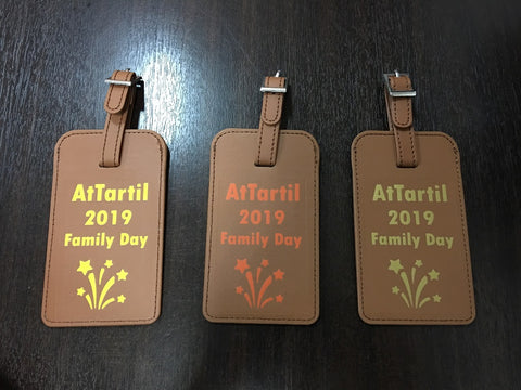 Luggage tag for family day door gift