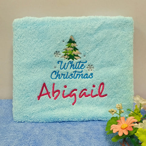 Christmas tree on towel